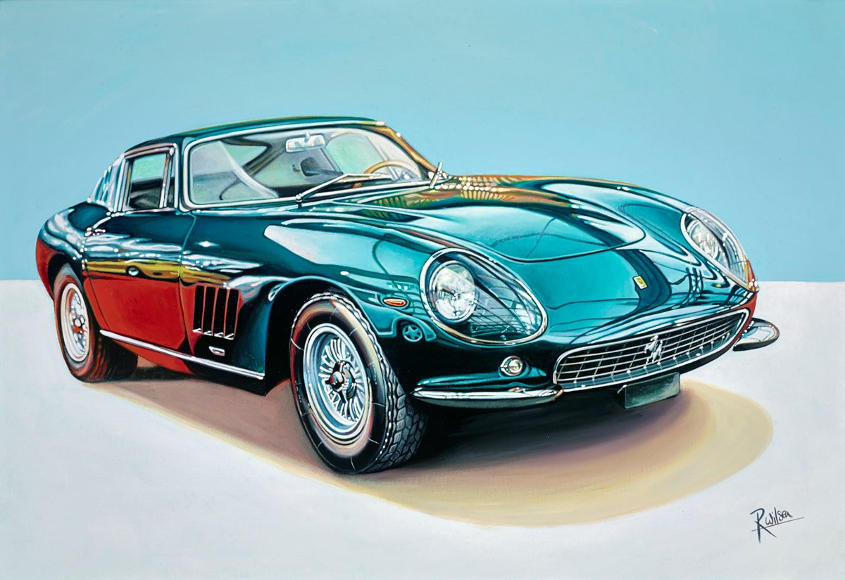 1965 Ferrari 275 GTB Scaglietti by roz wilson -  sized 32x22 inches. Available from Whitewall Galleries
